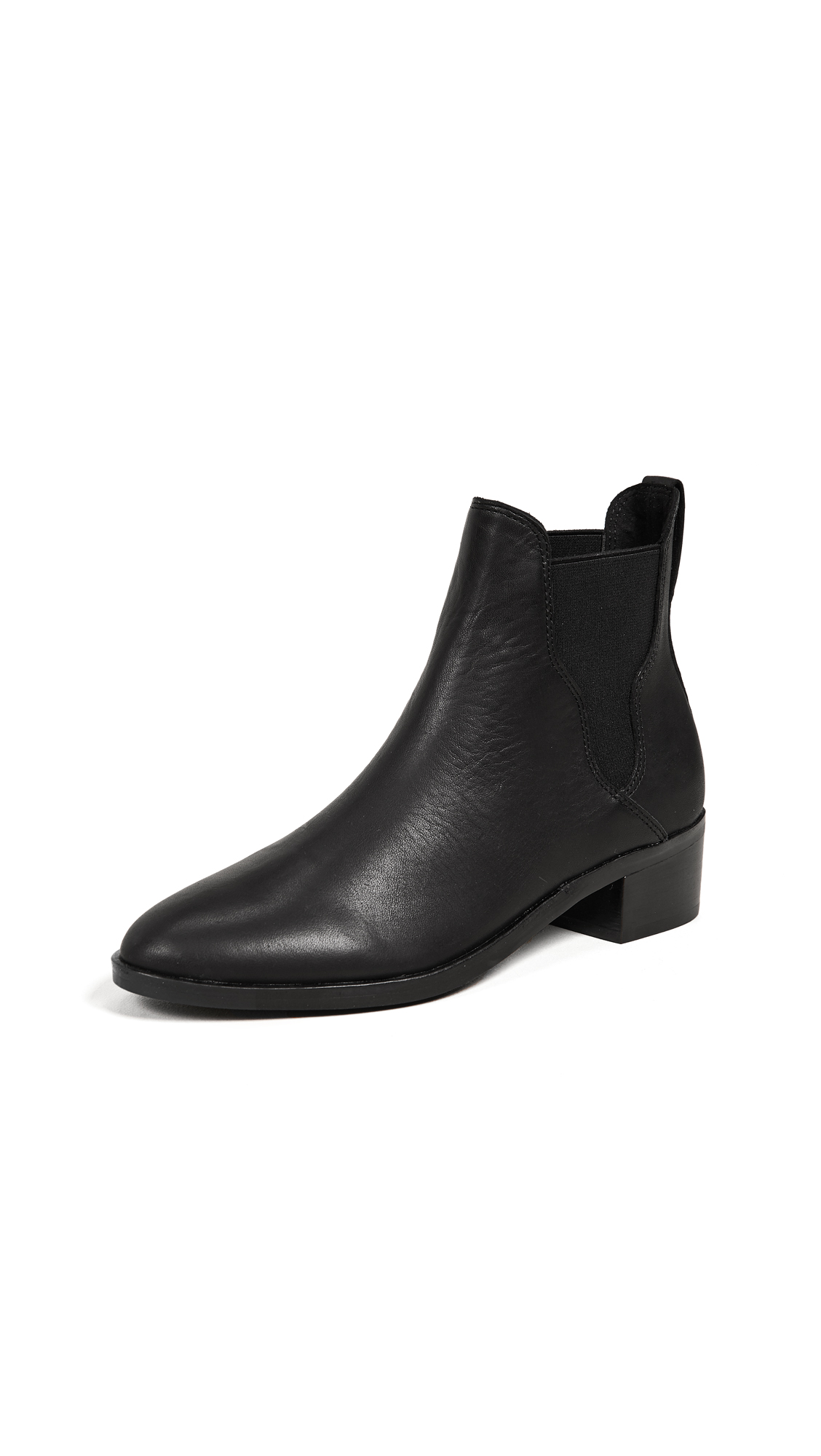 Soludos Marfa Leather Chelsea Booties - Black