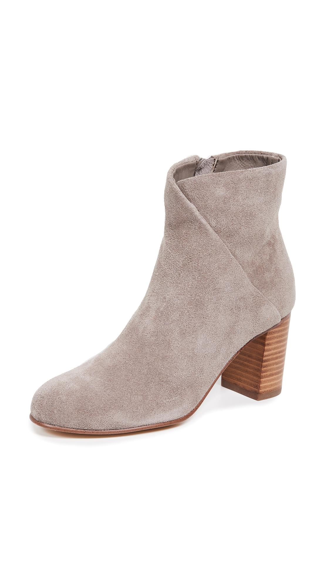 Soludos Mid Heel Venetian Booties - Mineral Grey
