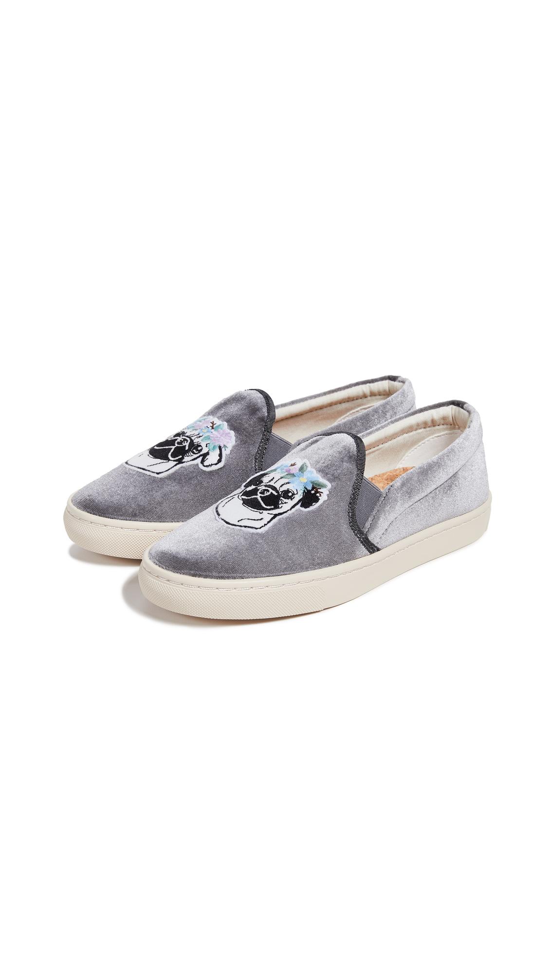 Soludos Flower Pug Slip On Sneakers - Gray