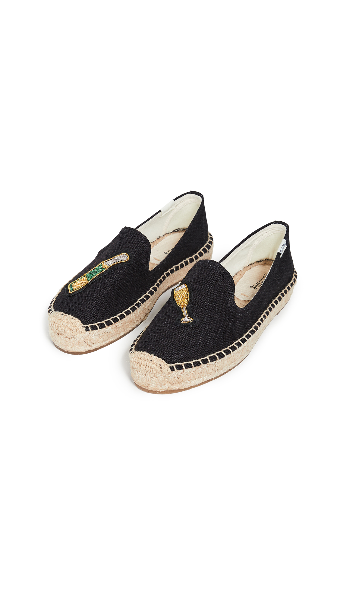 Soludos Cheers Smoking Slippers - Black