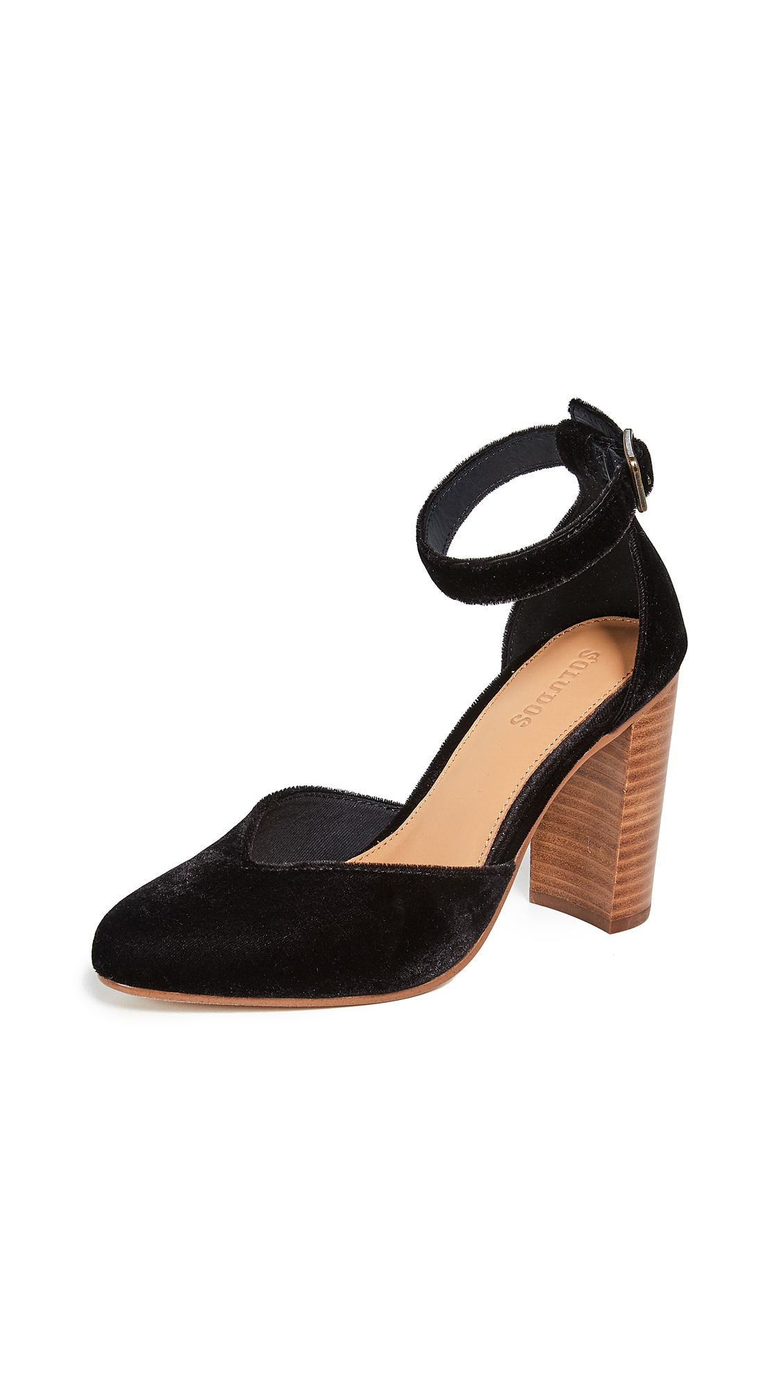 Soludos Collette Block Heel Pumps - Black