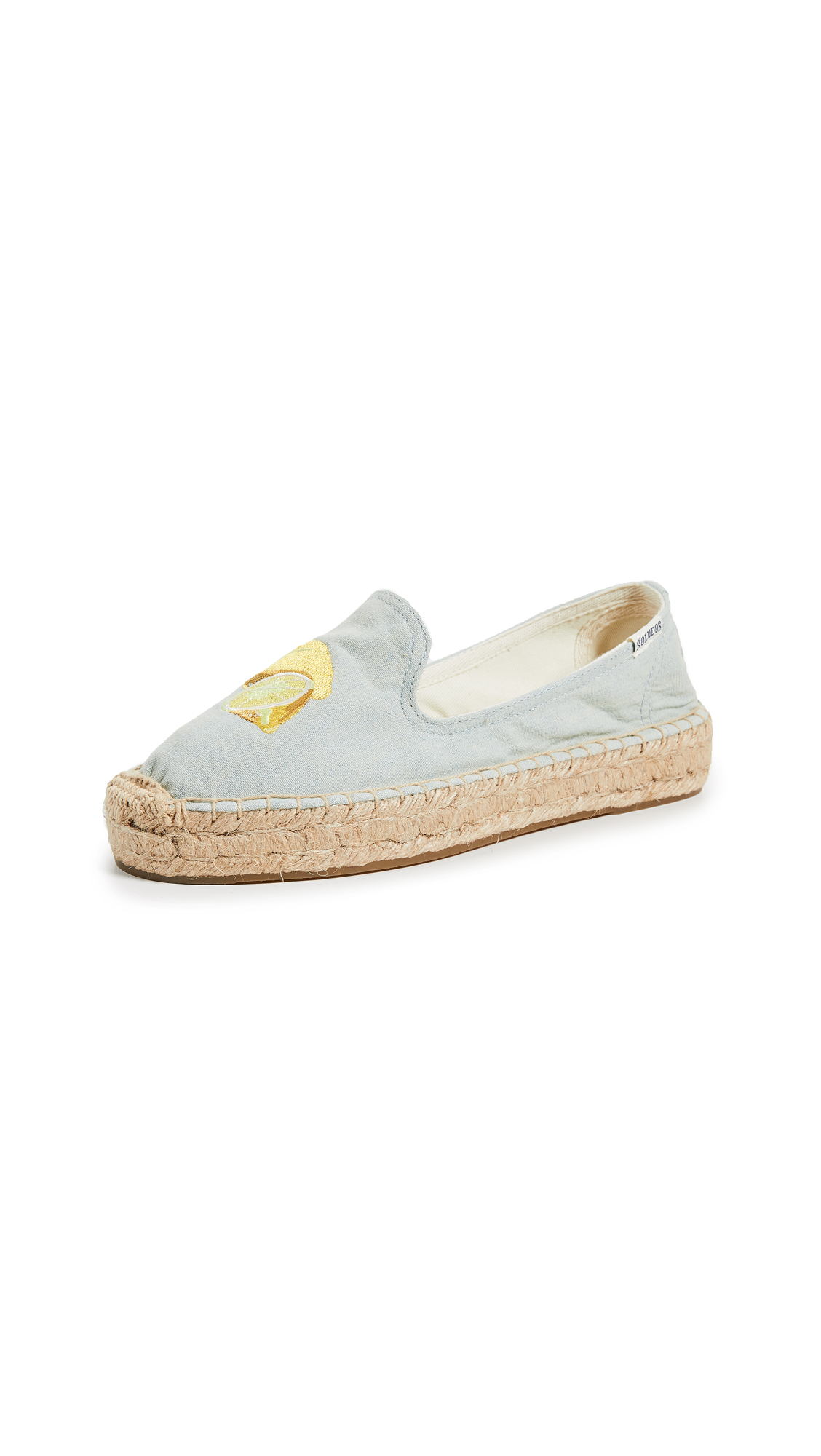 Soludos Lemons Smoking Slippers - Chambray
