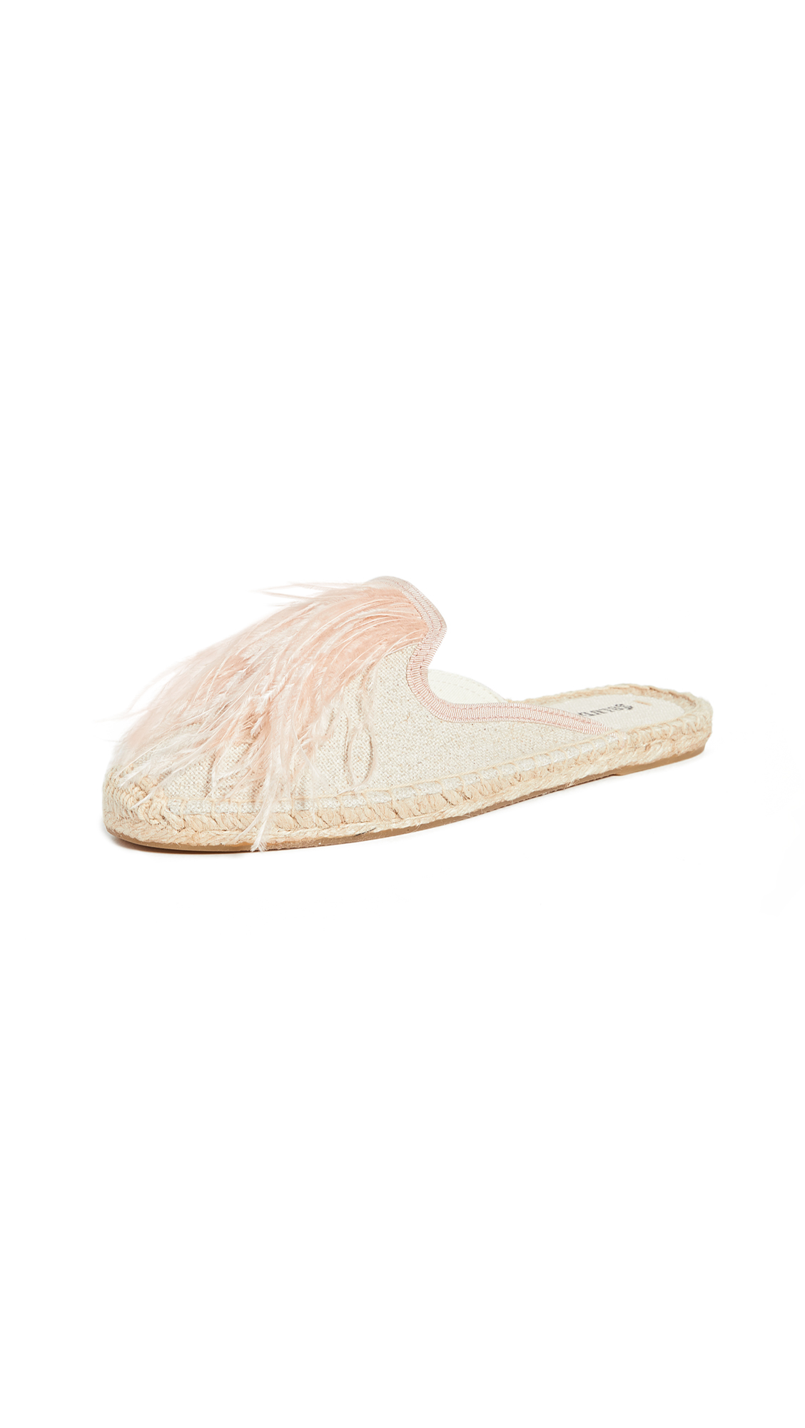 Buy Soludos online - photo of Soludos Feathers Mules