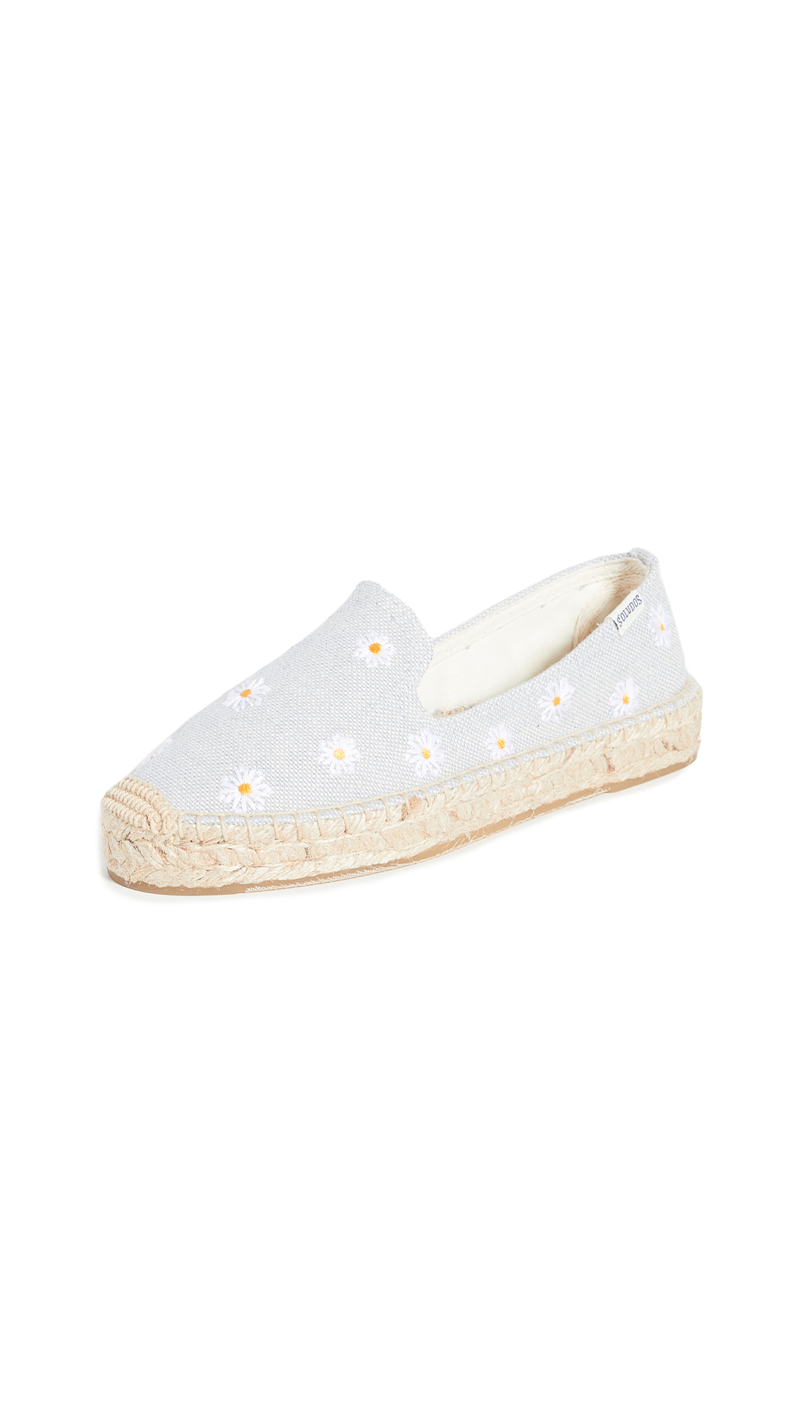 Buy Soludos online - photo of Soludos Daisies Embroidered Espadrilles