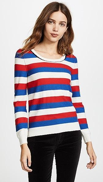 Sonia Rykiel Striped Round Neck Sweater