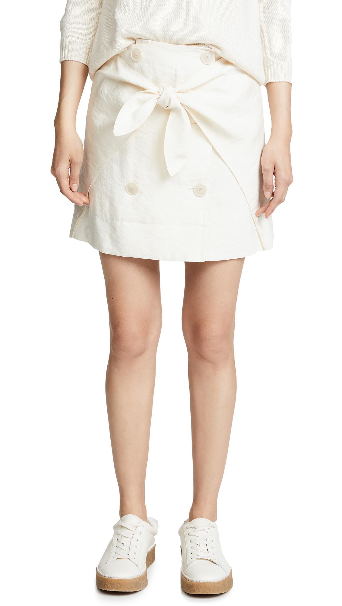Sonia Rykiel Wrap Front Skirt In Dune