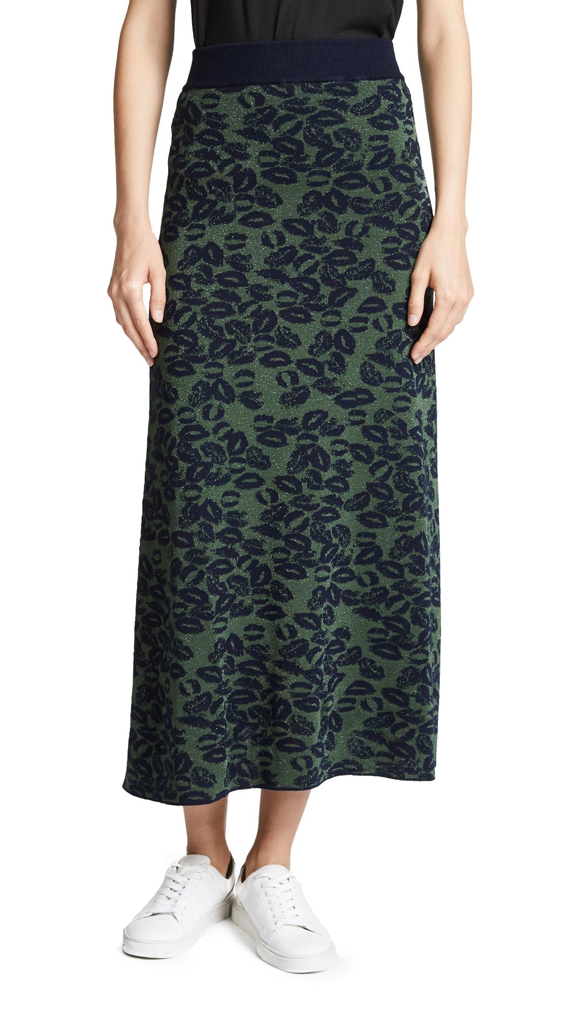 Sonia Rykiel Patterned Skirt In Blue/Green