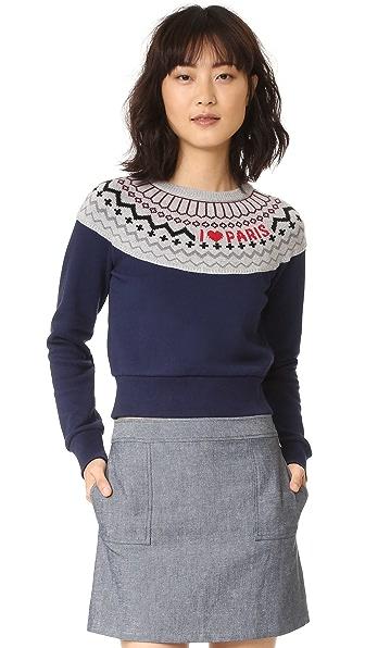 Sonia by Sonia Rykiel Fair Isle Paris Sweater