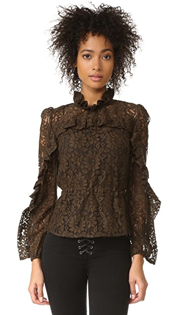 Sonia by Sonia Rykiel High Neck Lace Blouse