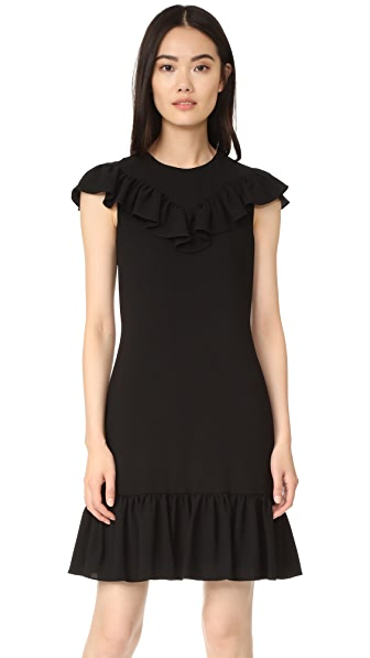 Sonia by Sonia Rykiel Crepe Dress with Frills