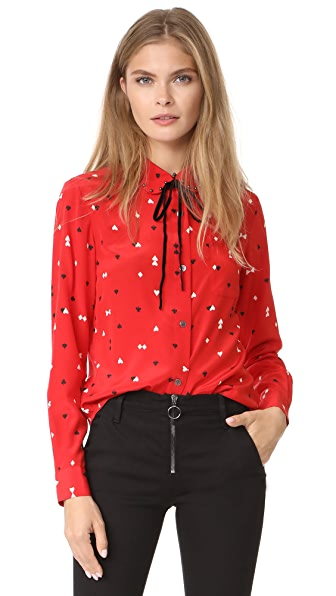 Sonia by Sonia Rykiel Collar Blouse - Playing Card