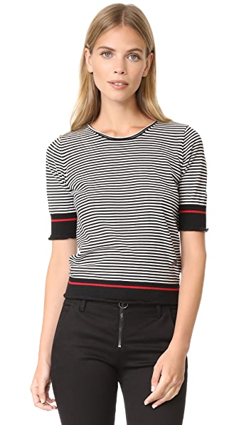 Sonia by Sonia Rykiel Pullover - Black/White/Red Lips