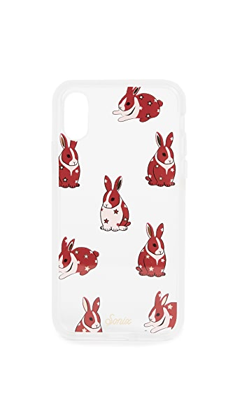 Sonix Clear Chubby Bunny iPhone X Case In Multi