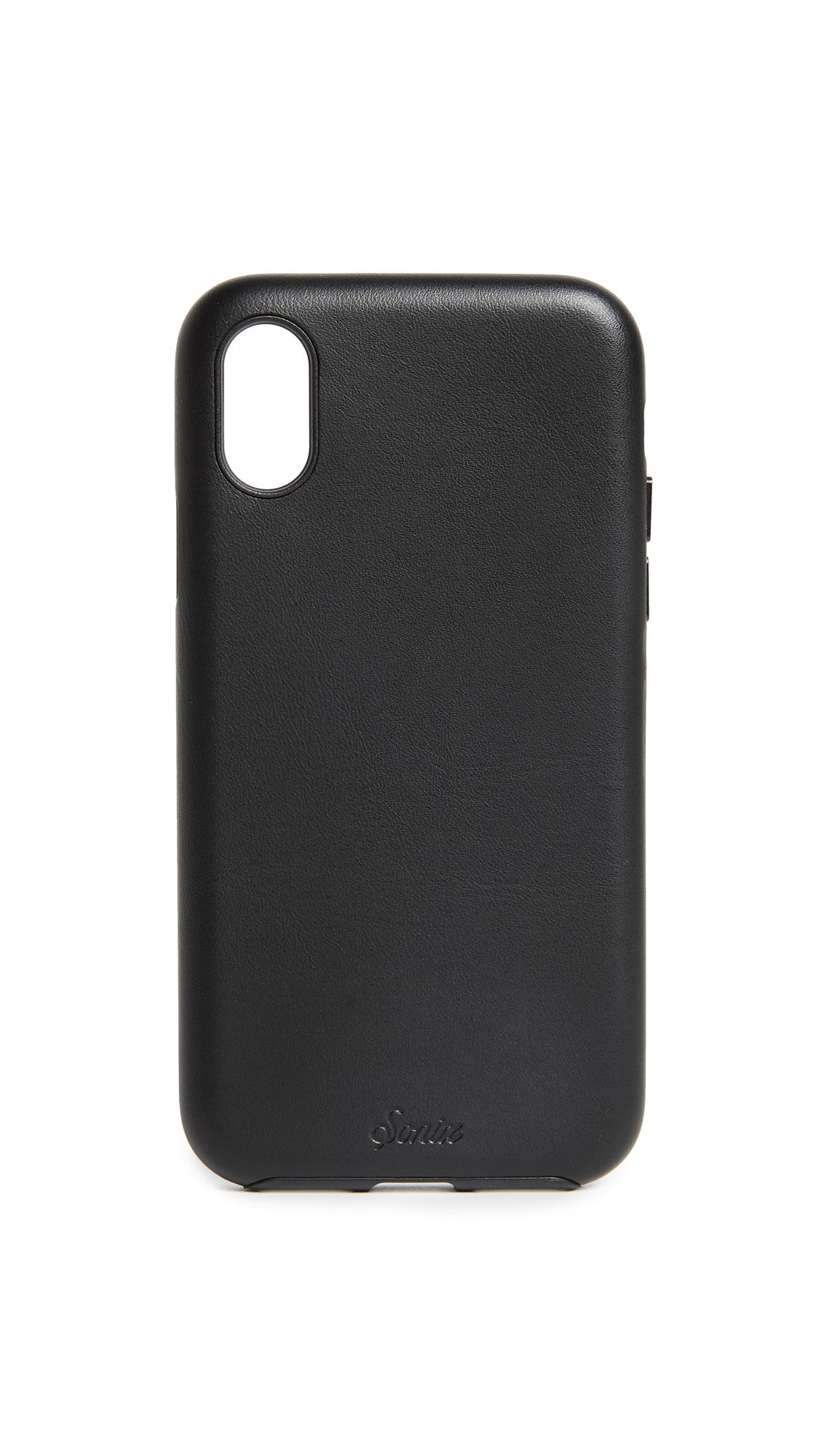 Sonix Leather IPhone X Case - Black