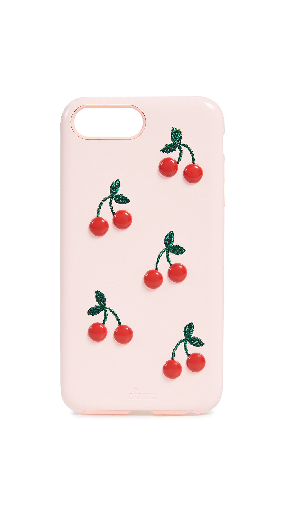 Patent Cherry Leather Iphone Plus Case