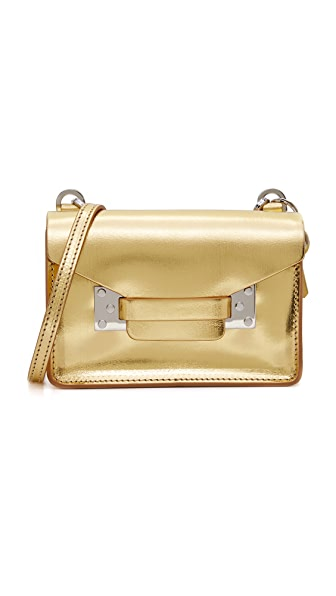 Sophie Hulme Metallic Nano Envelope Bag - Gold