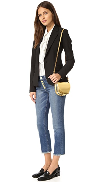 Sophie Hulme Metallic Mini Saddle Bag