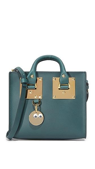 Sophie Hulme Mini Box Tote Bag - Forest Green