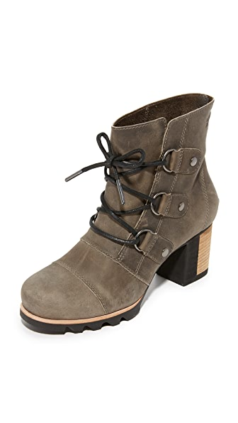 Sorel Addington Lace Up Booties - Dark Fog