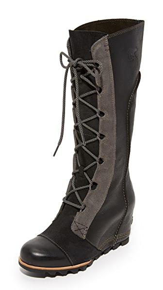 Sorel Cate the Great Wedge Boots - Black