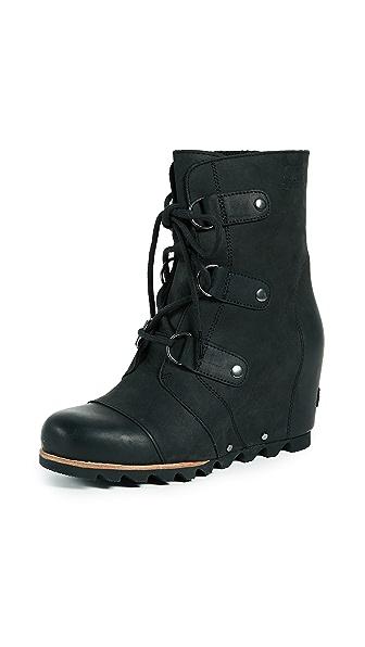 Sorel Joan of Arctic Wedge Booties In Black