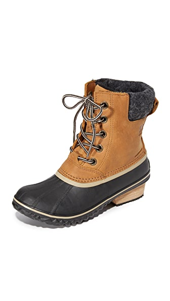 Sorel Slimpack II Lace Up Booties - Elk