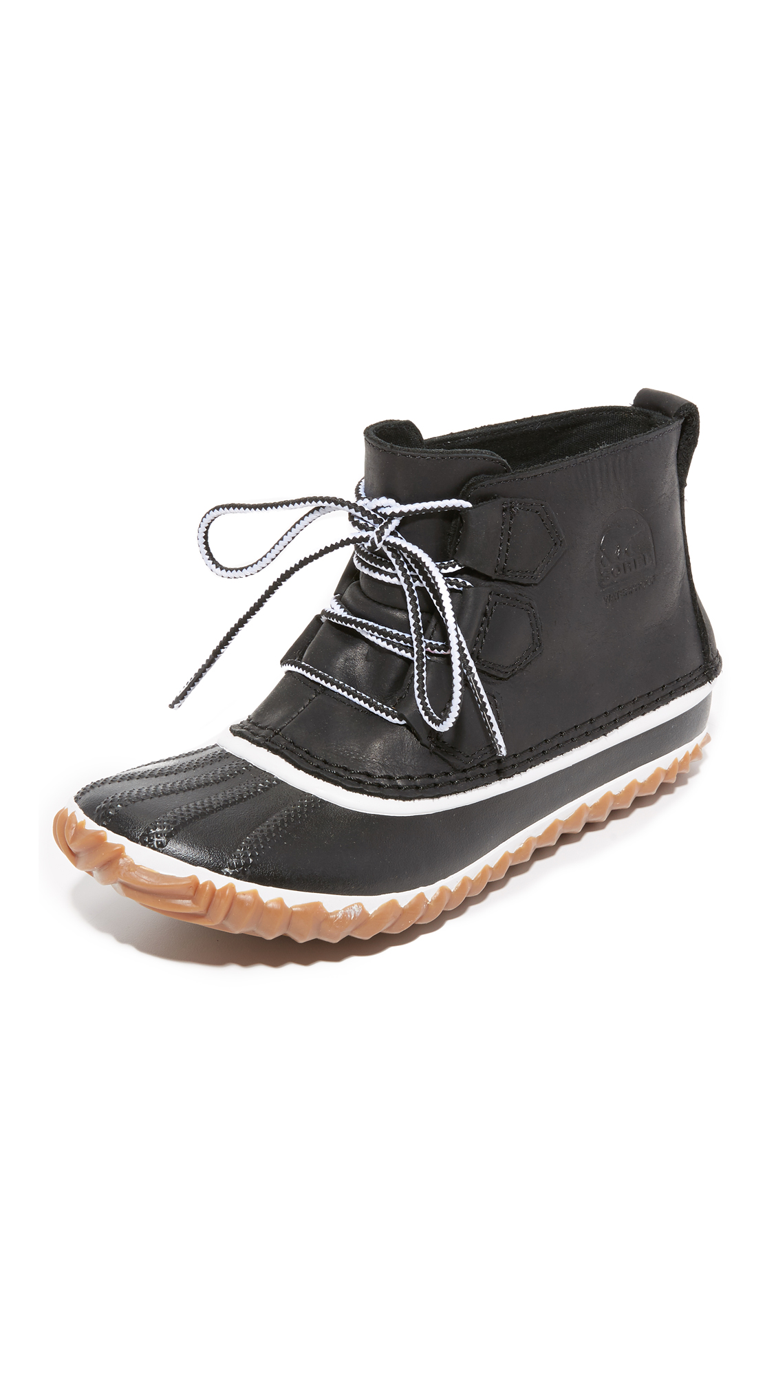sorel female sorel out n about leather booties black