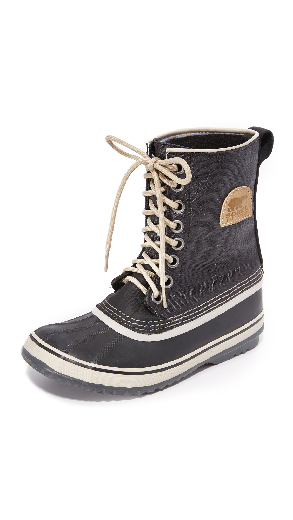 sorel female sorel 1964 premium canvas boots black