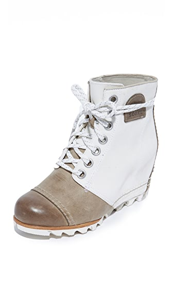 Sorel 1964 Premium Wedge Booties - Sea Salt