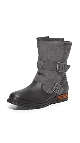 Sorel Major Moto Boots - Dark Grey/Black