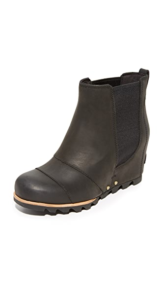 Sorel Lea Wedge Booties - Black/Quarry