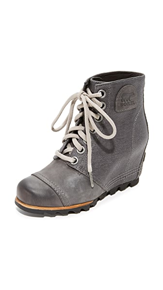 Sorel PDX Wedge Booties - Dark Grey