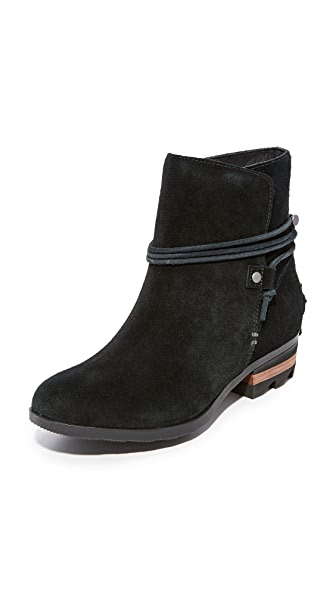 Sorel Farah Short Booties - Black