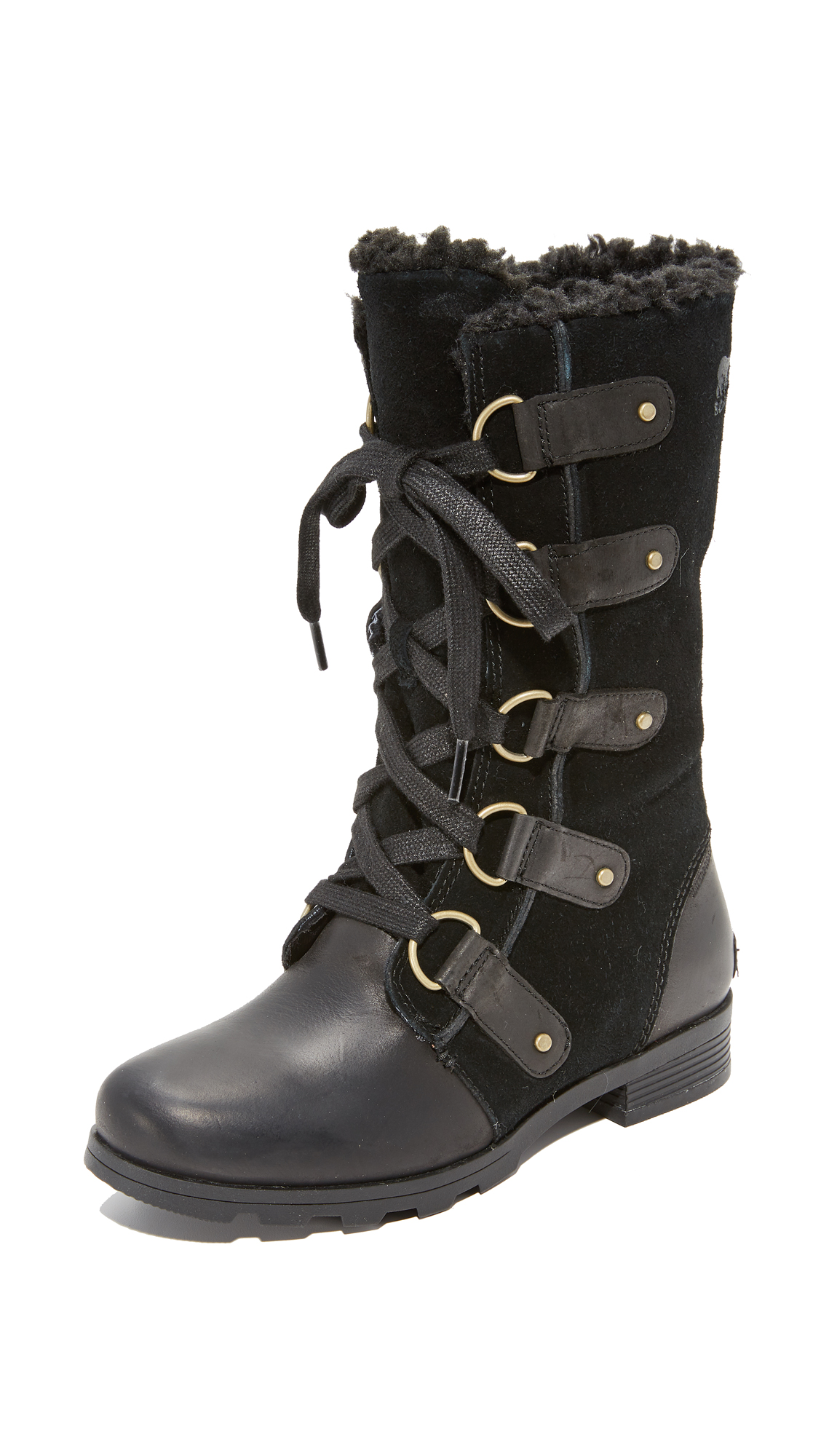 Sorel Emelie Lace Boots - Black