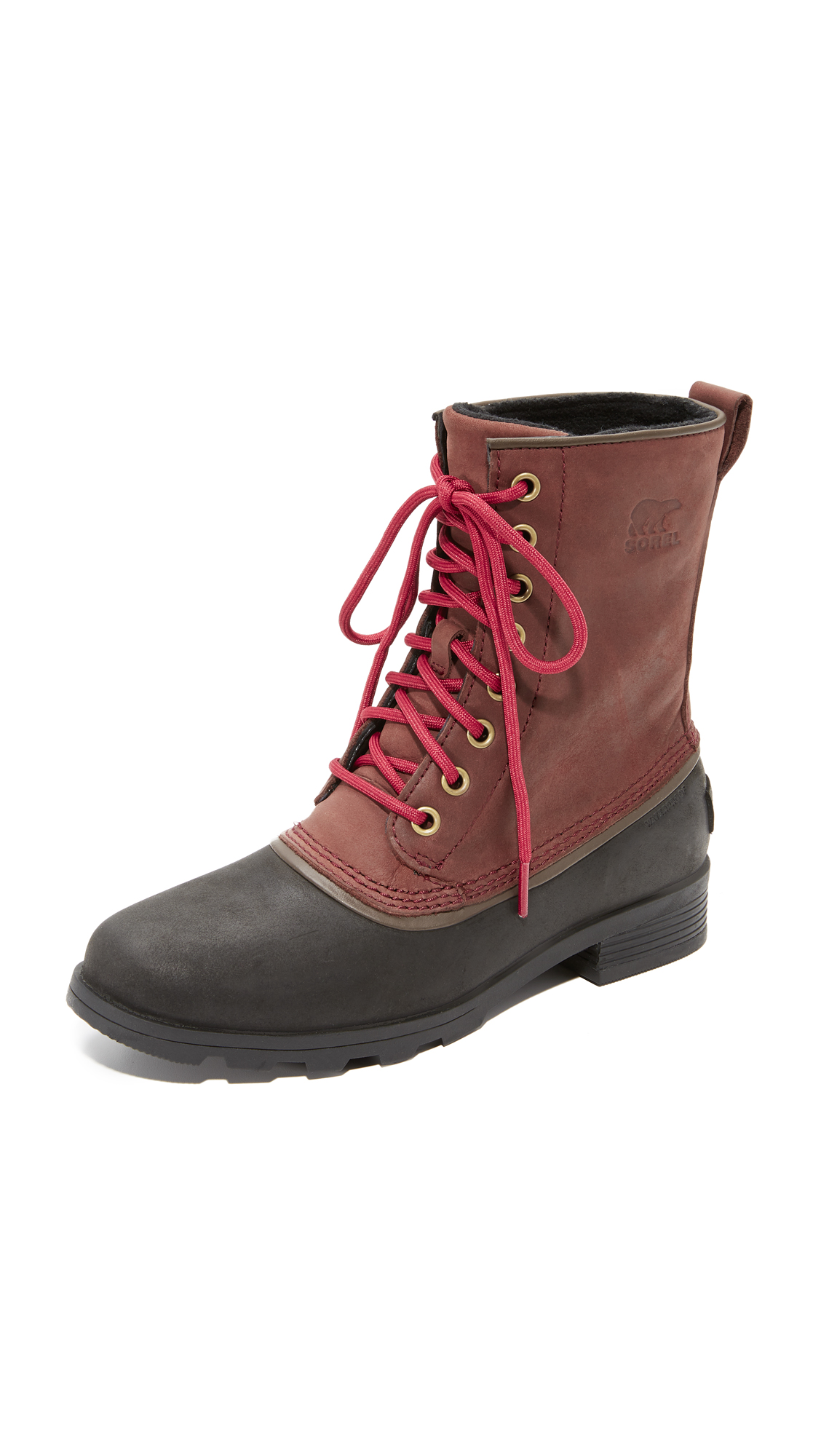 Sorel Emelie 1964 Booties - Redwood/Black
