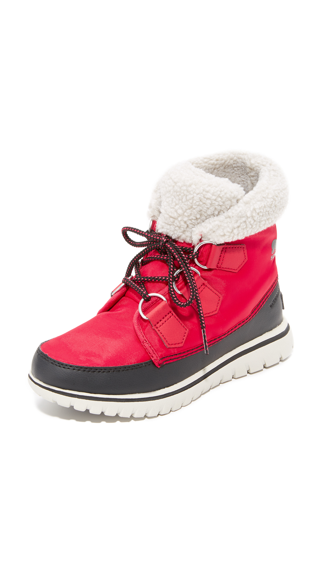 Sorel Cozy Carnival Booties - Candy Apple/Black