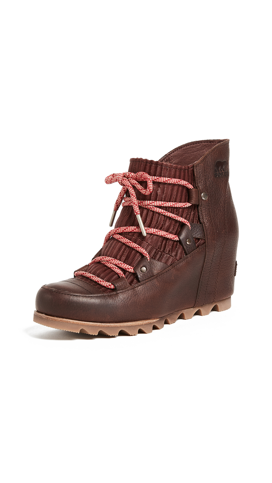 Sorel Sandy Wedge Booties - Redwood
