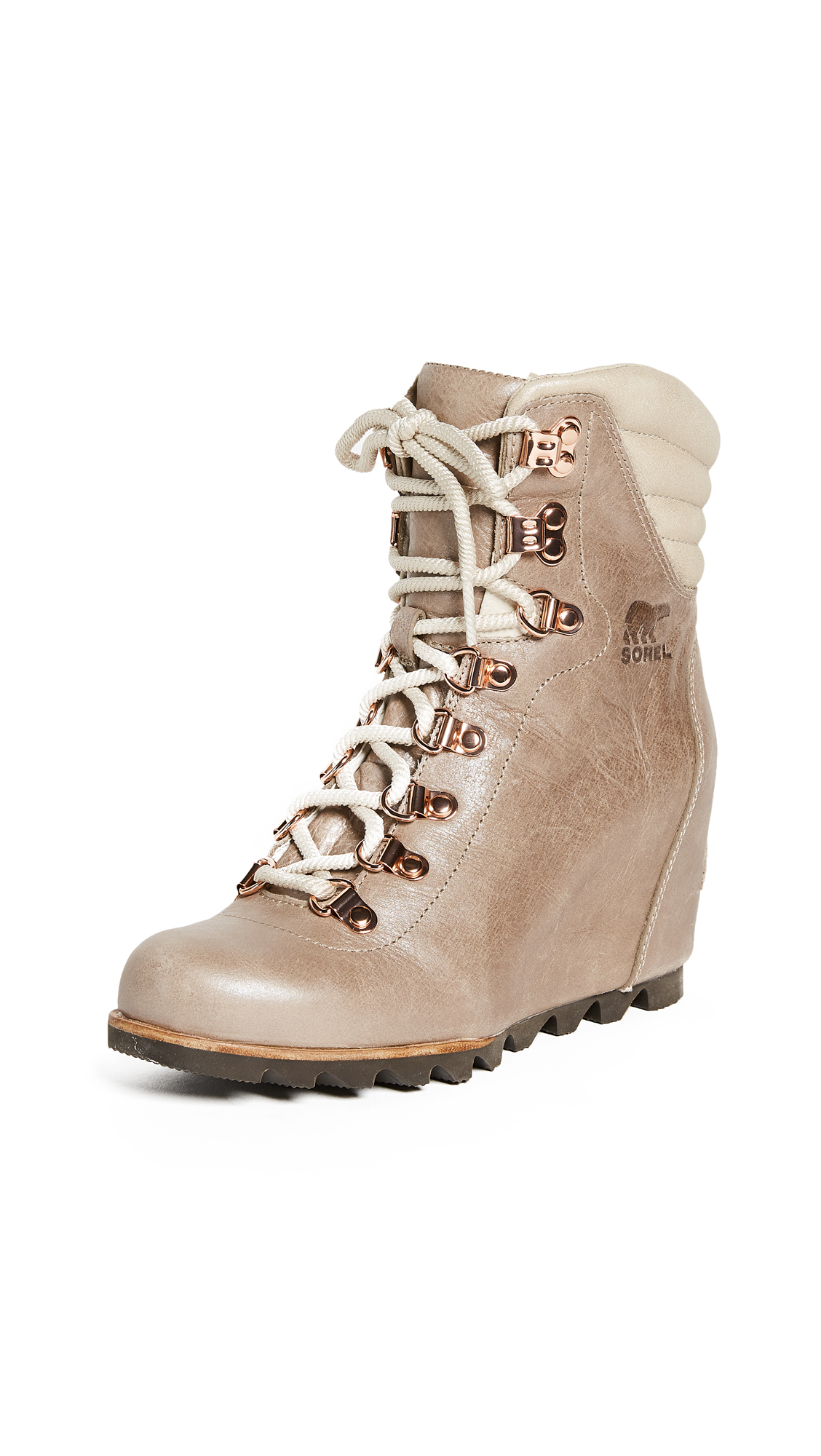 Sorel Conquest Wedge Holiday Booties - Beach/Fawn
