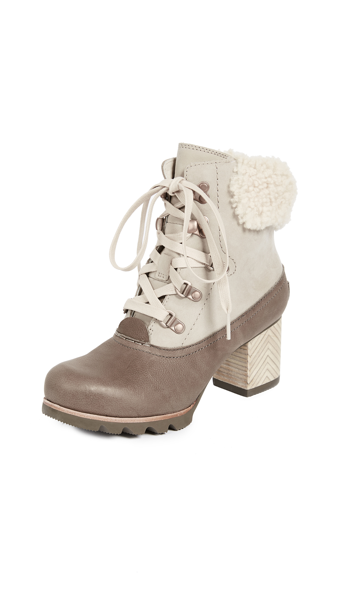 Sorel Jayne Luxe Booties - Ancient Fossil/Mud