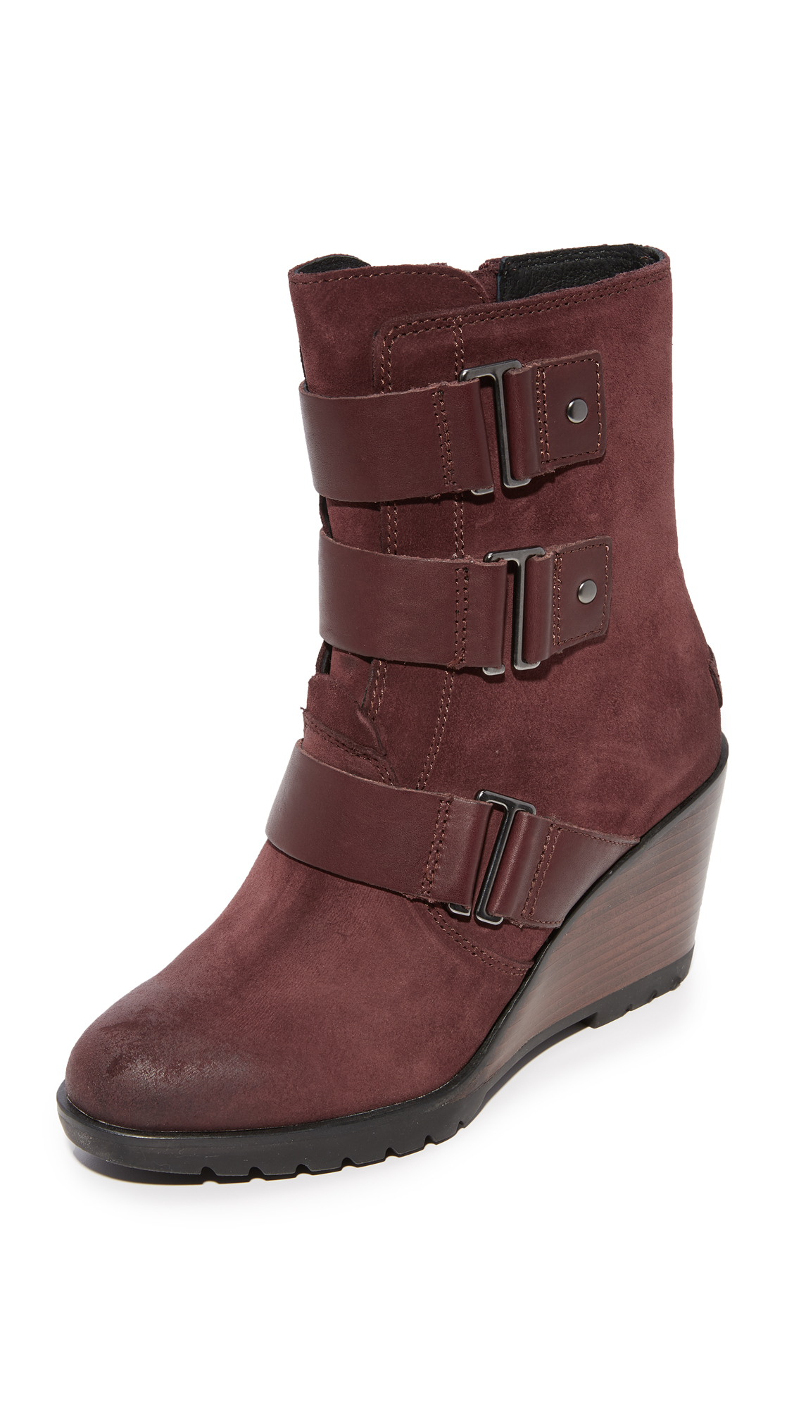 Sorel After Hours Booties - Redwood