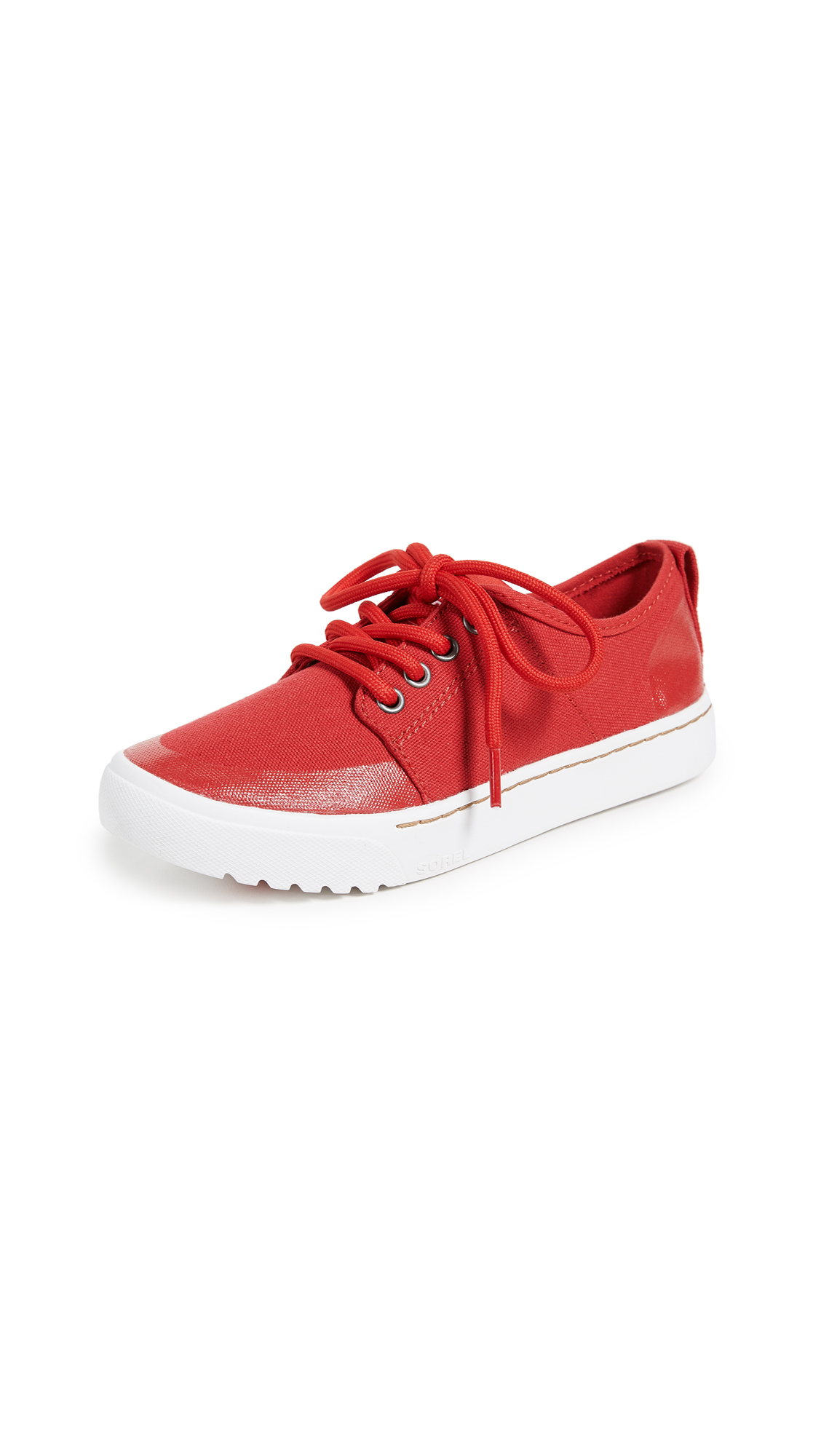 Sorel Campsneak Lace Up Sneakers - Bright Red