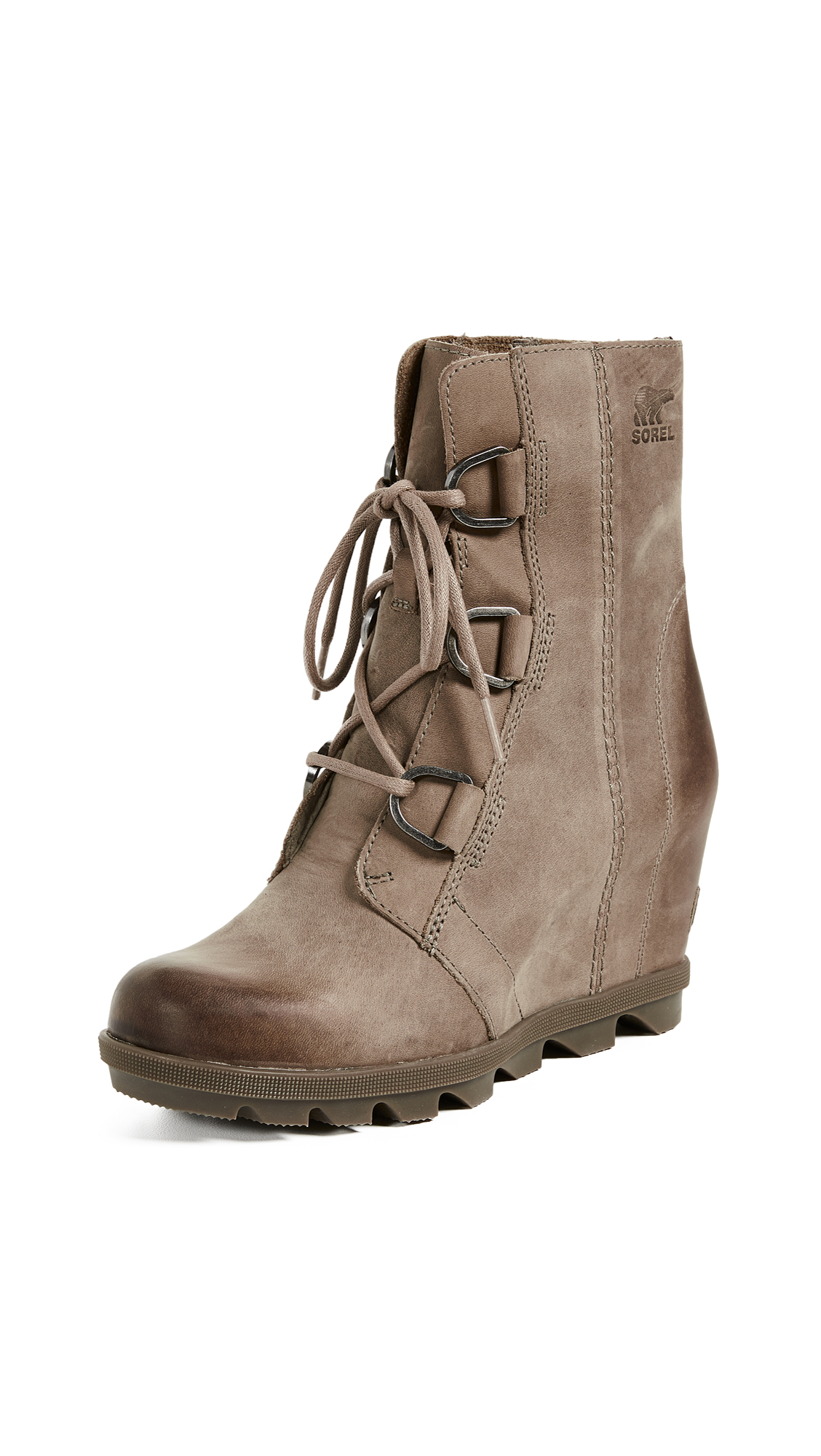 Sorel Joan of Arctic Wedge II Boots - Ash Brown