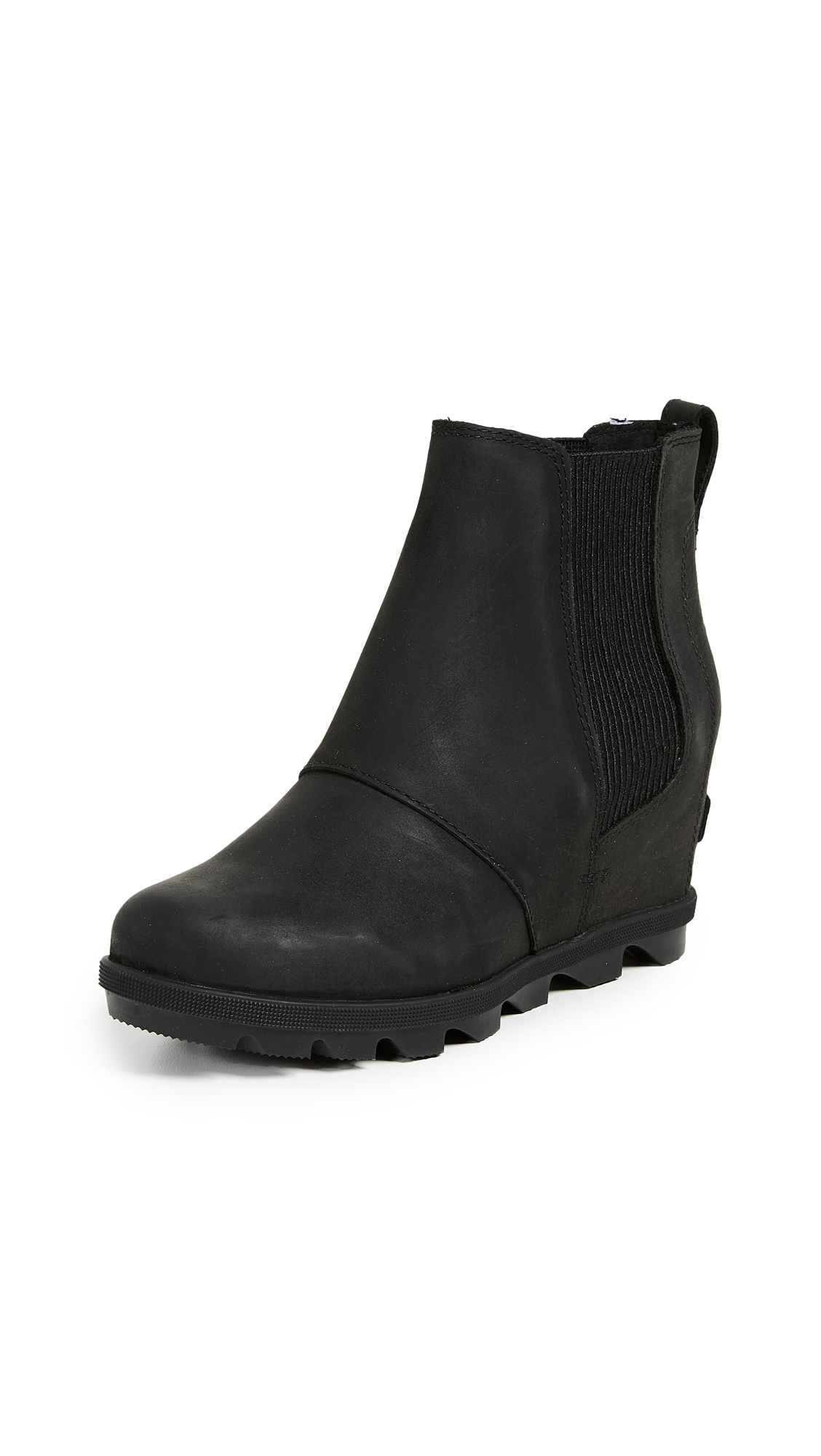 Sorel Joan of Arctic Wedge II Chelsea Boots - Black