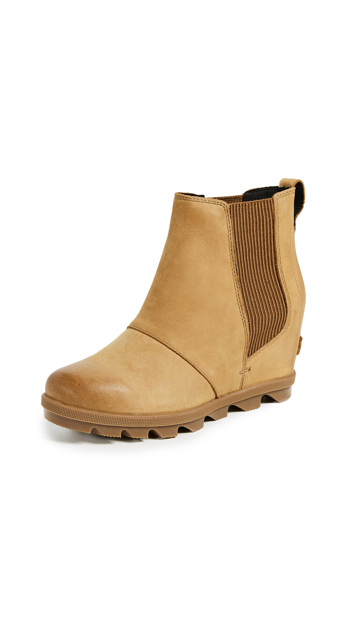 Sorel Joan of Arctic Wedge II Chelsea Boots - Camel Brown