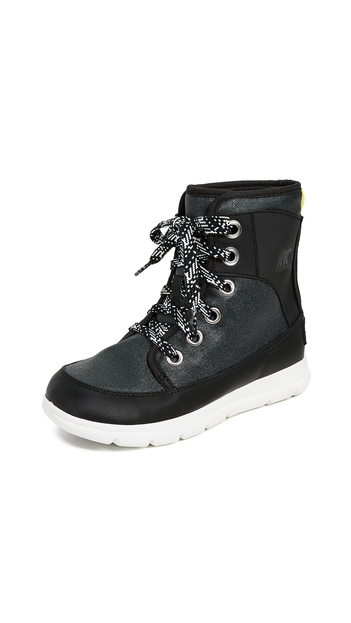 Sorel Sorel Explorer 1964 Booties - Black/Sea Salt