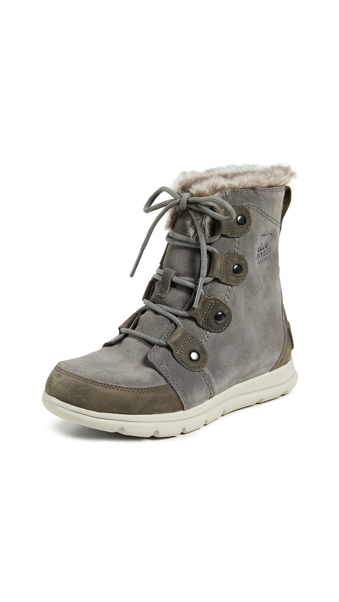 Sorel Sorel Explorer Joan Boots - Quarry/Black