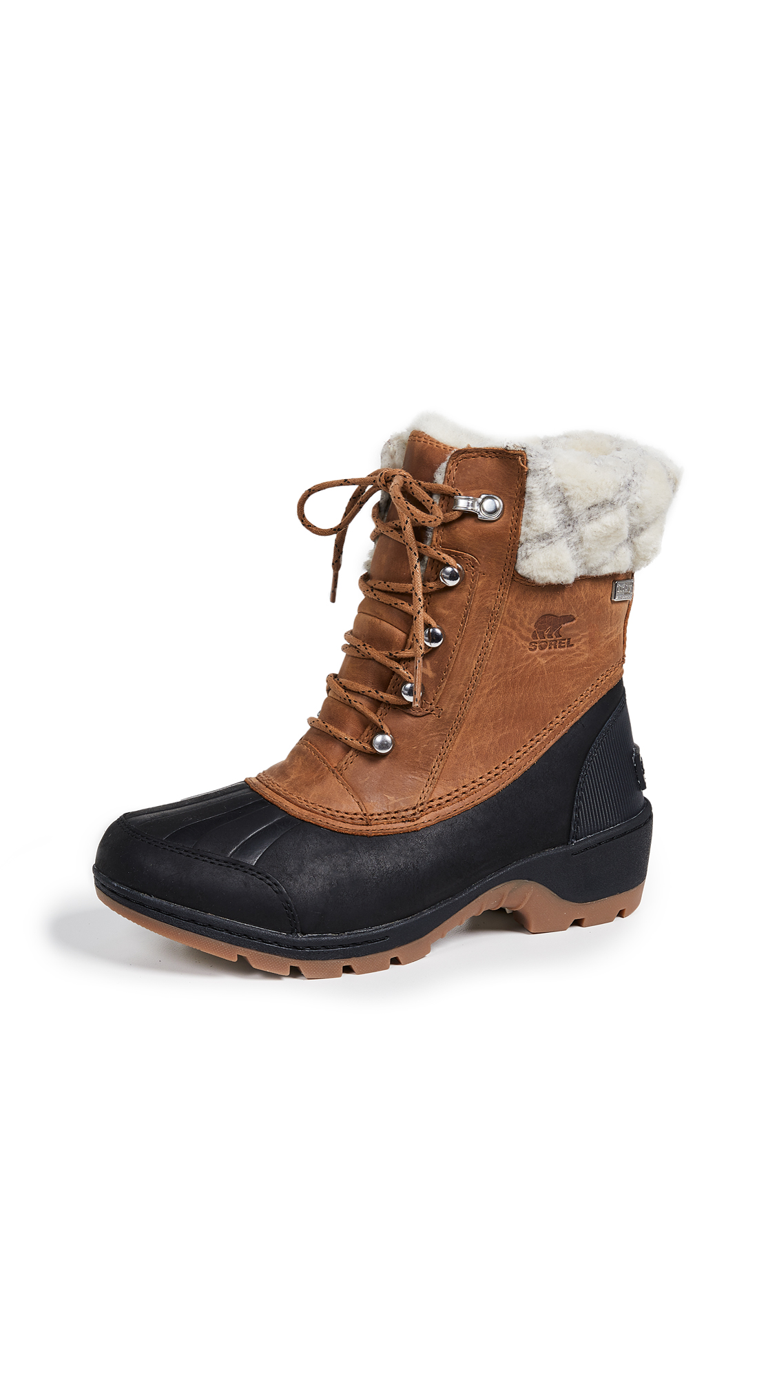 Sorel Whistler Mid Boots - Camel Brown/Black