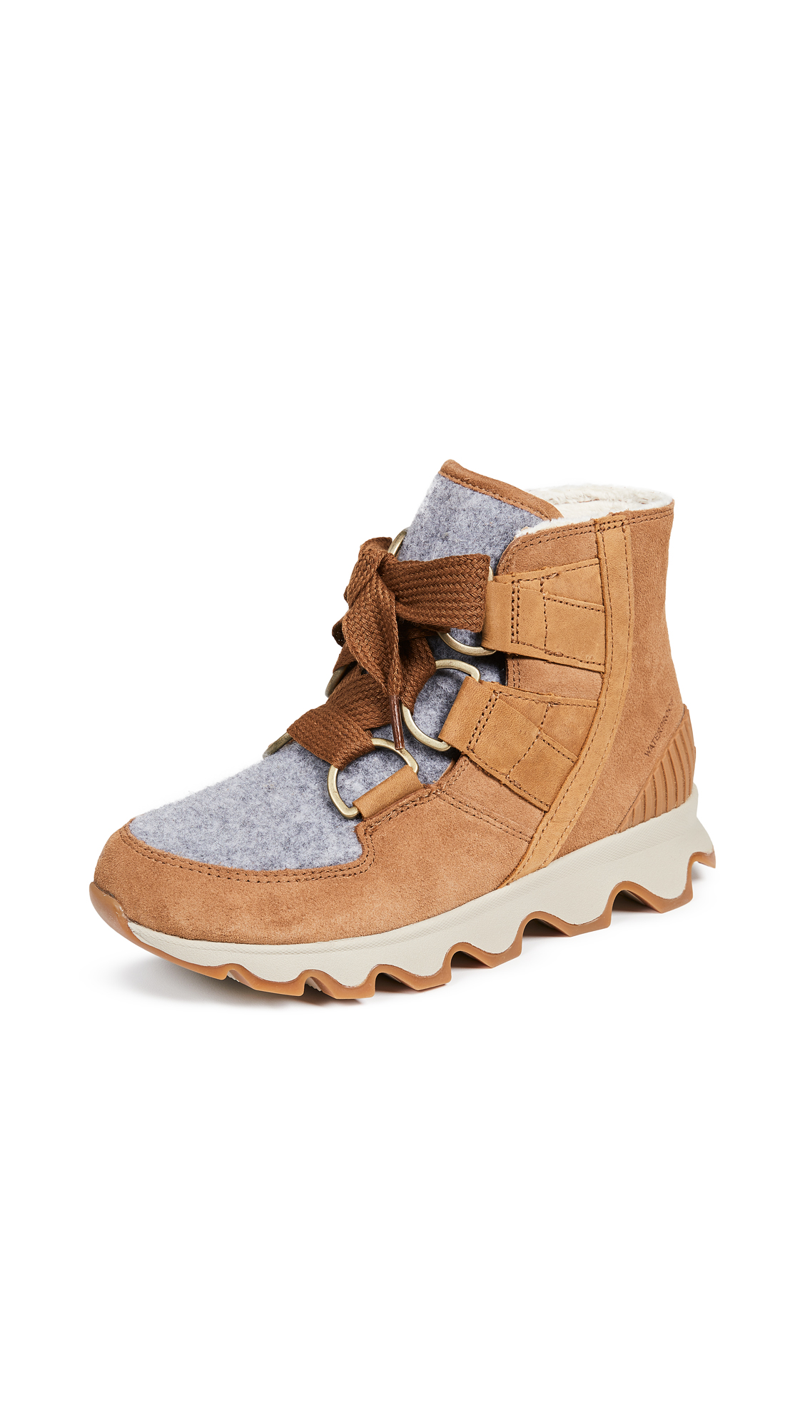 Sorel Kinetic Short Lace Up Booties - Camel Brown