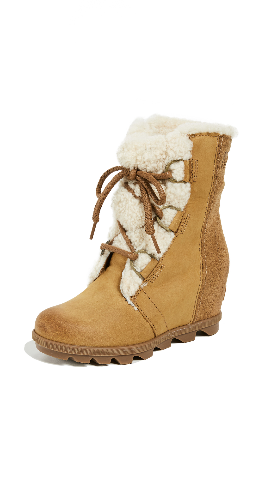 Sorel Joan Of Arctic Wedge II Lux Boots - Camel Brown
