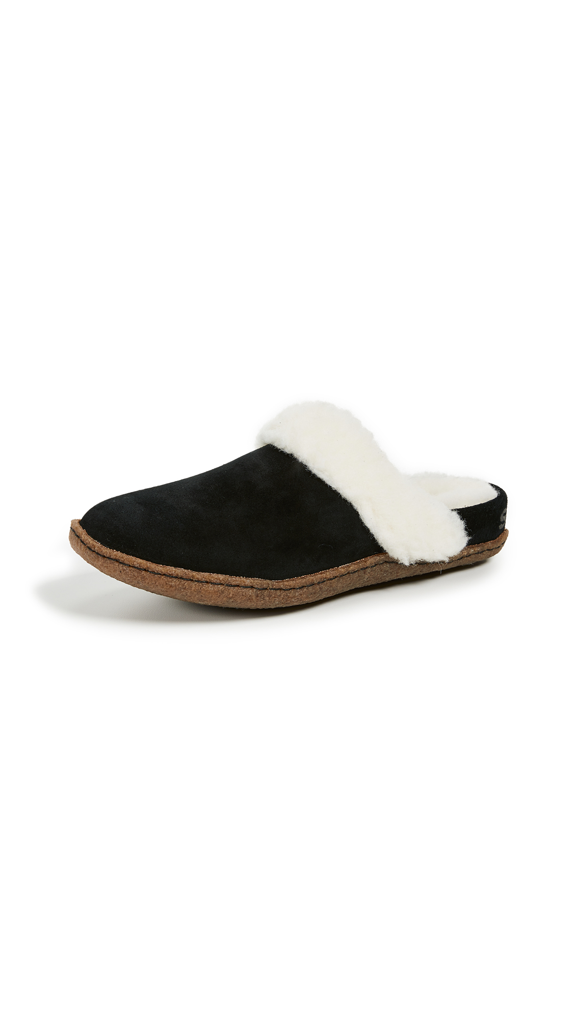 Sorel Nakiska Slide II Slippers - Black/Natural